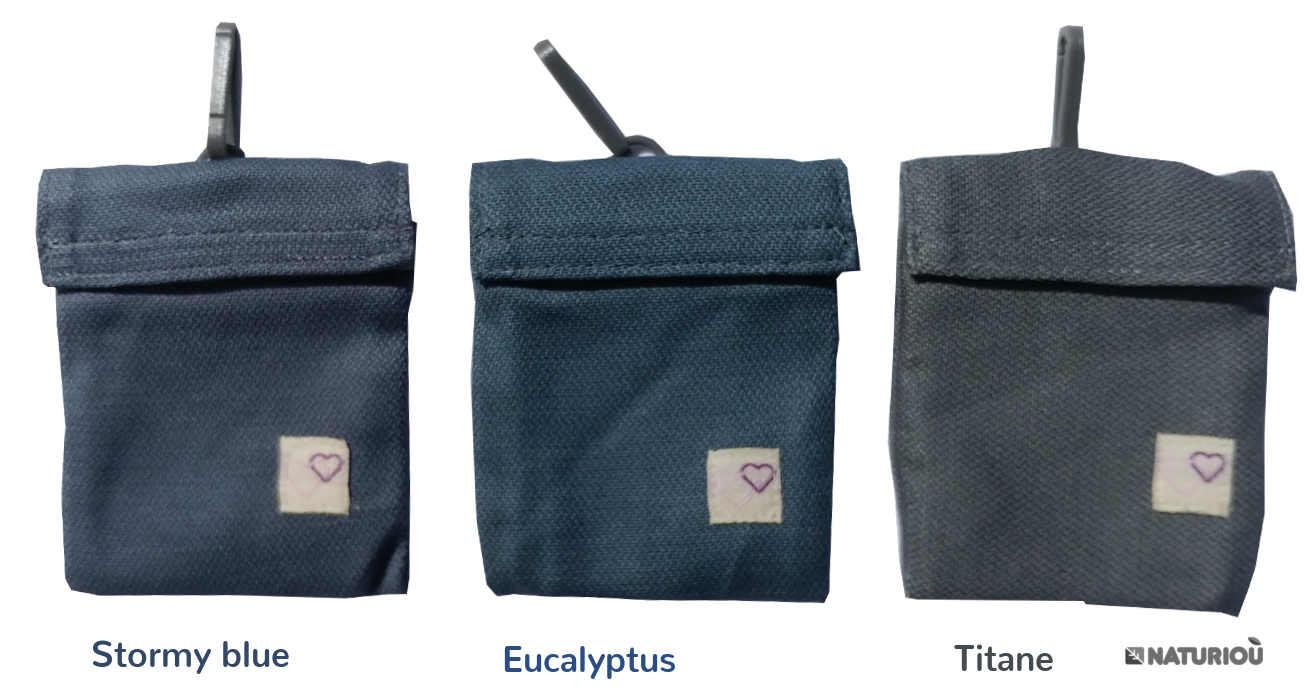 Miroir de portage des P4 preschool Titane, Eucalyptus et stormy blue