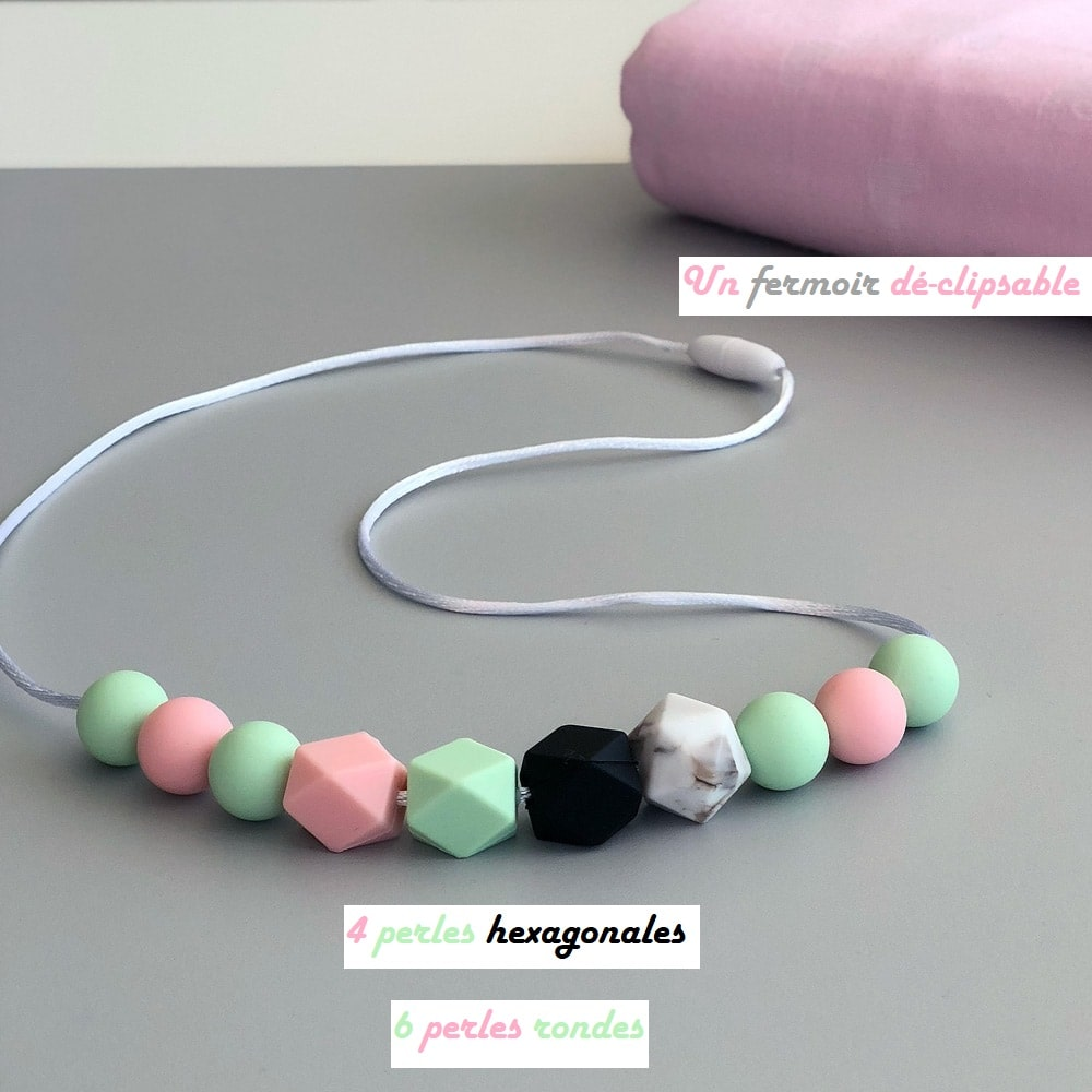 Love and Carry Lotus Collier allaitement en silicone alimentaire atouts