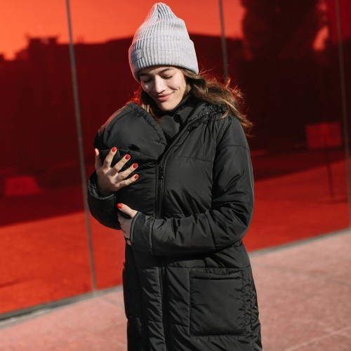 Love and carry manteau de portage et de grossesse noir