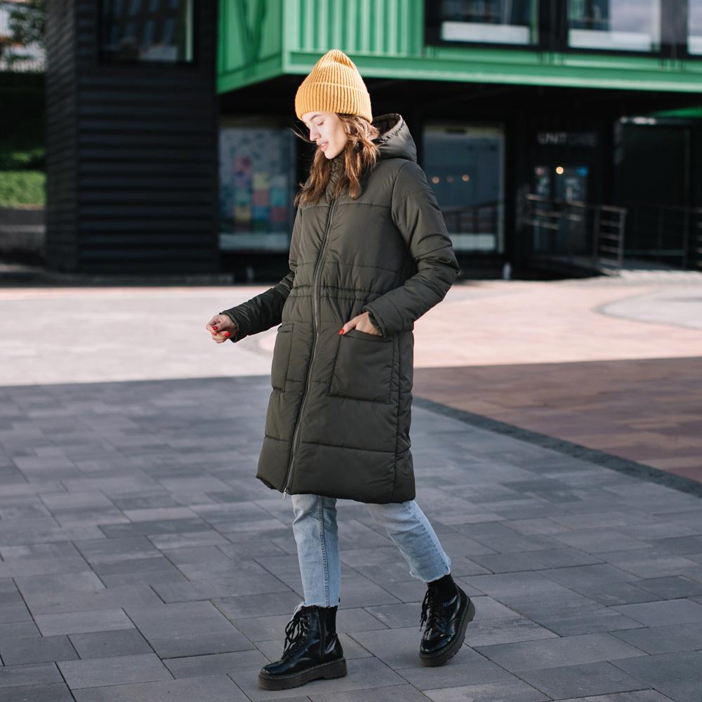 manteau long hiver kaki