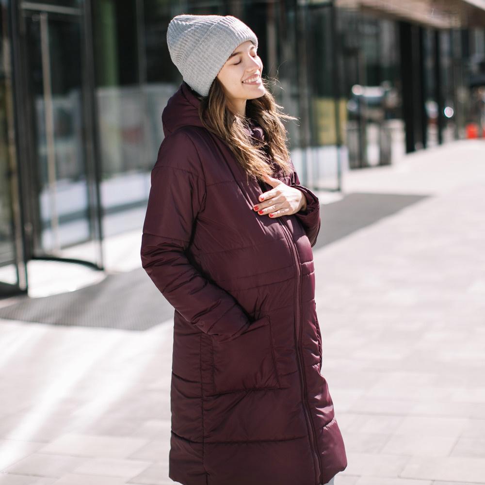 manteau de grossesse bordeaux