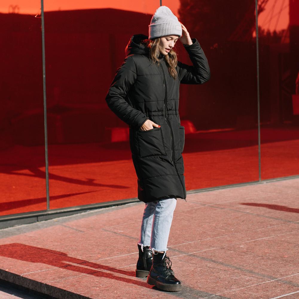 manteau long hiver noir classique