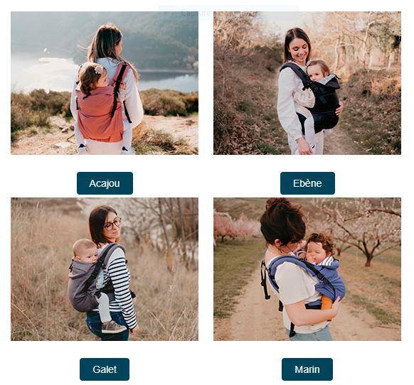 Les différents modèles de porte-bébé Néo+
