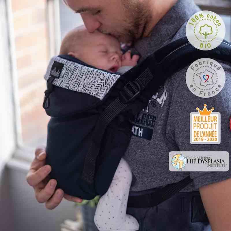 Néobulle Neo V2 Ebène porte-bébé préformé dès la naissance