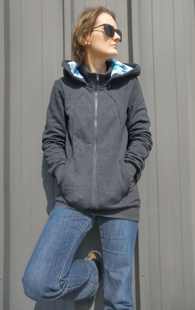 Naturiou sweat portage Graphite Geo Blue