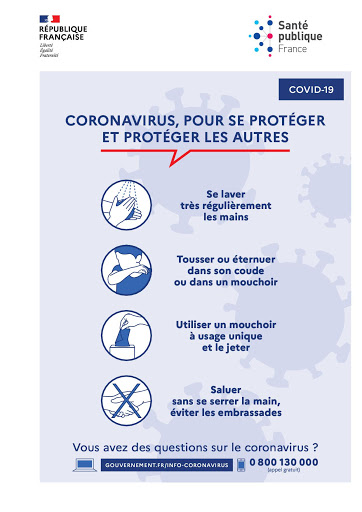 Recommandations sanitaires Coronavirus