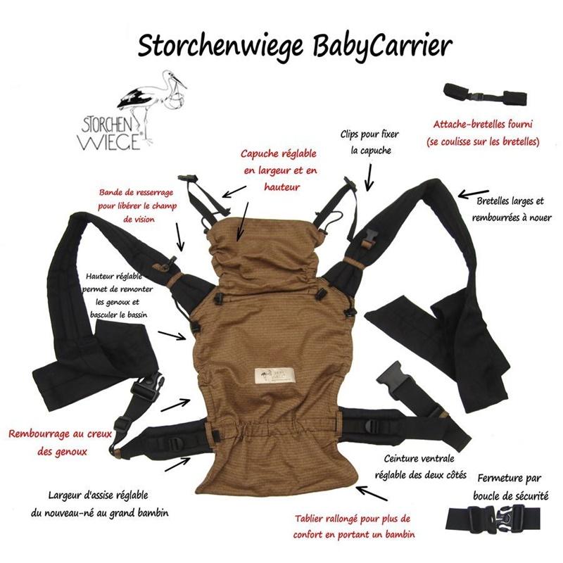 Caractéristiques BabyCarrier Storchenwiege