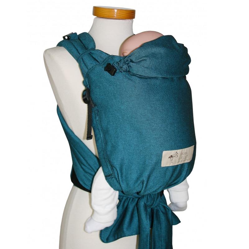 Storchenwiege Babycarrier Slim Turquoise