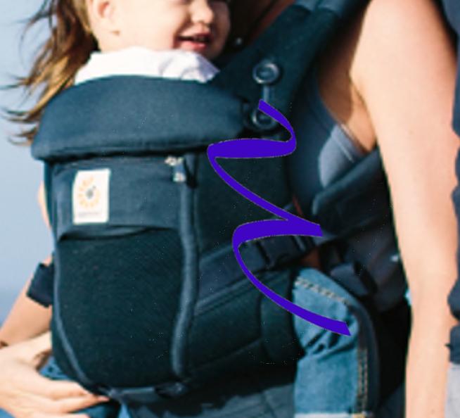 Coup en W du porte-bébé physiologique Adapt cool air mesh bleu prfond