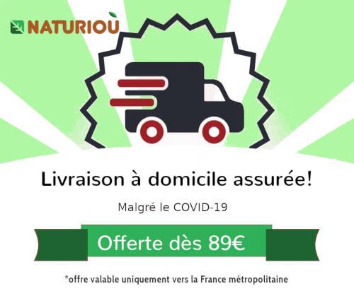 Livraison à domicile assurée + frais de port offert dès 89€ d'achat