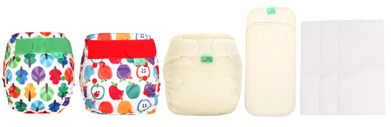 Totsbots Pack d'essai taille unique - One Size Trial Kit